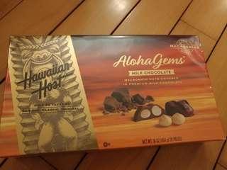 金牌Haiwaiian Host AlohaGems Macadamia nuts chocolate 454g