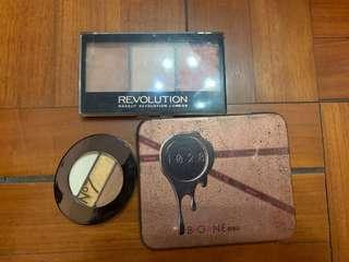 Boots eyeshadow, 1028 eyeshadow , make up revolutionary blush,