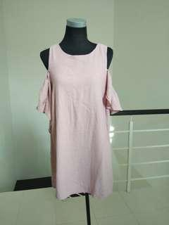 Brand new dust pink shoulder dress #CNY888