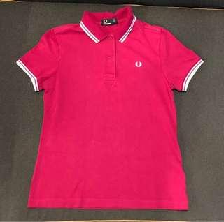 Fred Perry Cherry Pink Polo Shirt - Ladies