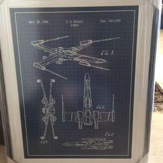 Star Wars X-Wing Fighter Poster