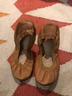 Leather Chestnut Ballet Flats