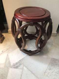 Antique rosewood/Blackwood stool