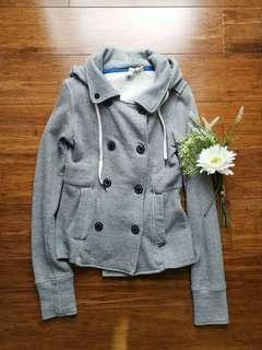 Elements gray coat with hood