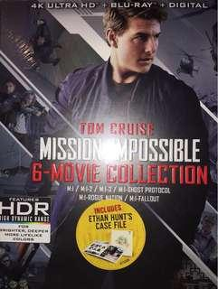Mission Impossible 1-6 4K UHD & Blu-ray