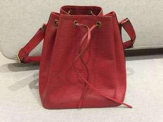 🚚 Lv 紅色 Epi 中型水桶包