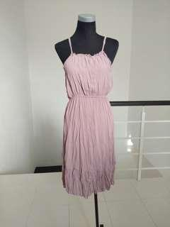 BNWT chiffon dusty pink dress #CNY888