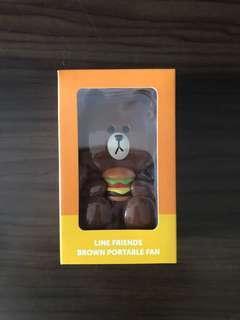 Hong Kong McDonald's Line Friends Brown portable fan