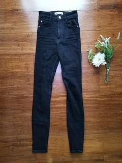 Zara high-waisted Black jeans
