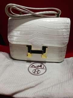 H Bag Crocs print