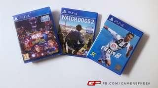 PS4 MARVEL CAPCOM WATCH DOGS 2 FIFA 19