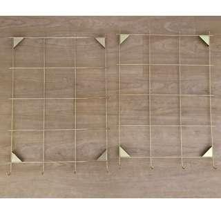 Ikea MYRHEDEN - wall grid board, brass-colour
