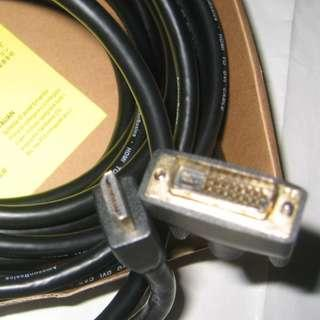 7.6m DVI to HDMI (7.6m = 25ft) . unused . Long cable