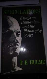 Speculations : Essays On Humanism & The Philosophy of Art