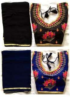 Readymade Saree blouse and Saree