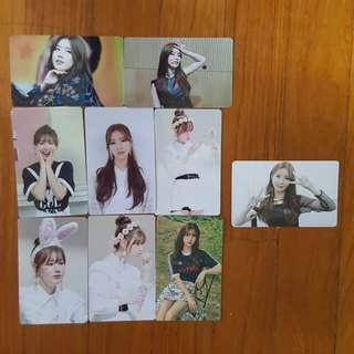 instock wts (g)i-dle gidle idle miyeon unofficial photocards lomocard lomos pc