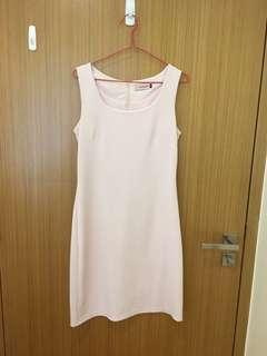 Light pink sheath work dress