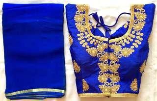 Readymade Saree blouse and Saree colours can be mixes