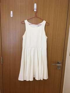 White flowy dress