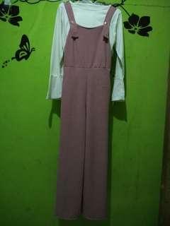 overall/jumpsuit allsize fit to L hanya sekali pakai