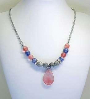 Alexie Beaded Necklace - Quartz & Agate