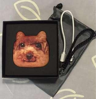 New poodle 3D power bank (in box with pouch, cable & string)