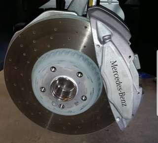 Difference between AMG Line and C43 AMG 4 piston calipers W205 W212 W213