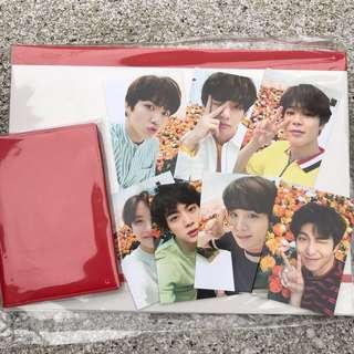 [SHARE PO] bts love yourself tour in japan passport case and photocards