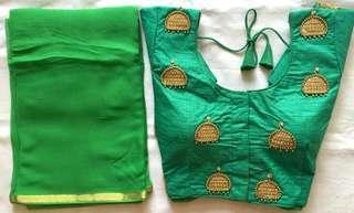 Readymade Saree blouse and Saree colours can mixed