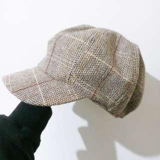 🚚 格紋貝蕾帽(實拍)