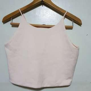 ZARA : Baby Pink Sleeveless Top