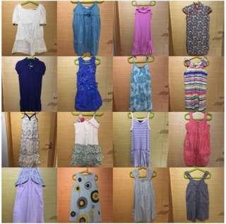 *70 pcs branded clothes for girls*