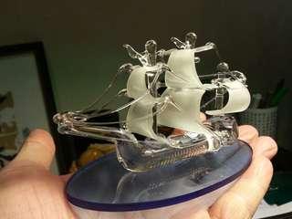 手工繞製玻璃帆船
