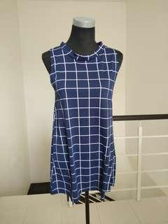 Brand new Plaid Highneck dress #CNY888