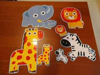 Animals puzzles 4sets