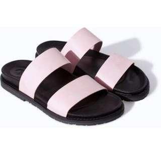Zara TRF ISO Slider Strap Bio Flat Sandals