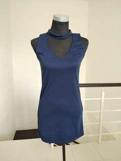 Brand new navy choker dress #CNY888