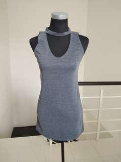 Brand new grey choker dress #CNY888