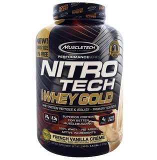 Muscletech 金裝 Nitro Tech 5.53lbs Vanilla 蛋白粉
