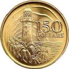 singapore lighthouse gold coin