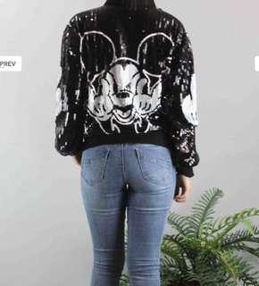 Bad Mickey Mouse sequinned jacket