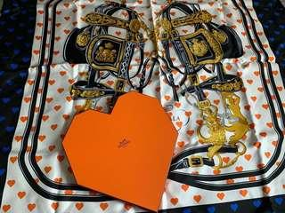 Hermes 情人節 scarf 90x90cm