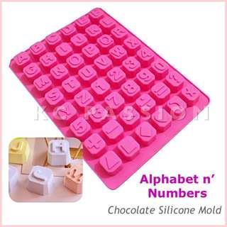 🍫 ALPHABET n' NUMBERS CUBE SILICONE MOLD for Pastry • Chocolate • Fondant • Gum Paste • Candy Melts • Jelly • Gummies • Agar Agar • Ice • Resin • Clay • Candle Wax • Soap • Chalk • Crayon