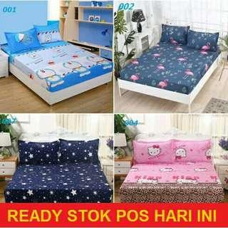 Single/Queen/King Size Fitted Bedsheet / Cadar (10 Colours+)