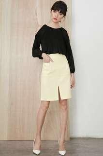 Fashmob Channing A Line Skirt (Cream)