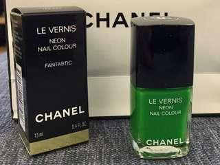 Chanel Le Vernis Nail Polish 螢光綠色指甲油 neon green colour fantastic