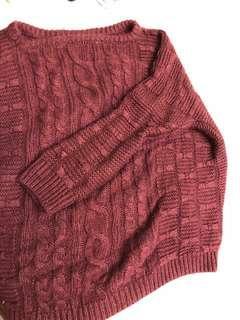 🚚 酒紅色毛衣