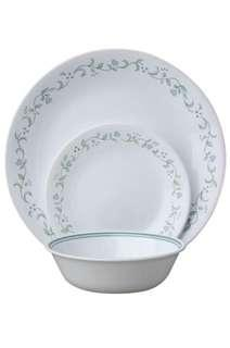 Corelle glass dinnerware 18pcs country cottage (for 6 pax)