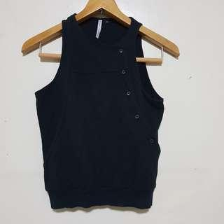 NEOLOGIE : Black Sleeveless Top