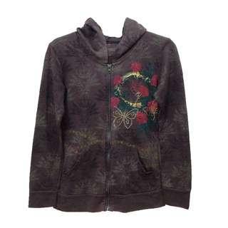 New:Hoodie brown sweater